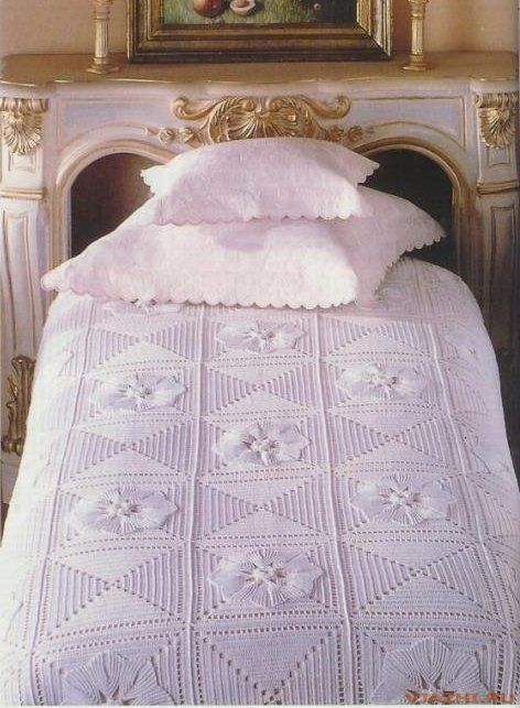 Fabulous bedspread with diagram
