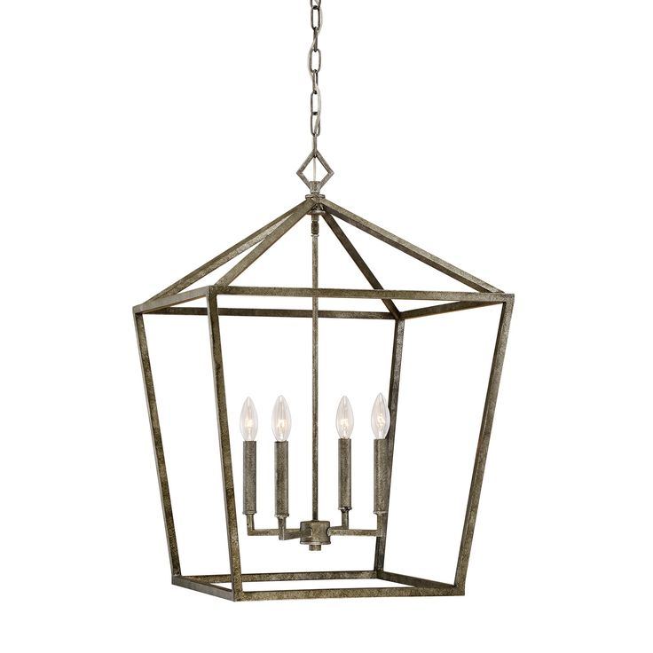Rubbed bronze 20 inch four light pendant millennium lighting lantern pendant