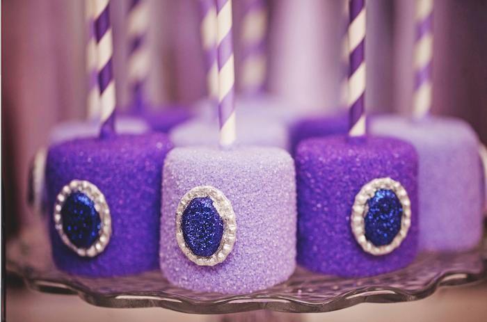 Sofia the First themed birthday party via Kara's Party Ideas KarasPartyIdeas.com Printables, cake, favors, banners, food, and more! #sofiathefirst #sofiathefirstparty #princessparty (12)