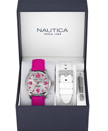 NAUTICA BFD 100 Multi Fuchsia Fabric Strap Box Set Η τιμή μας: 110€ http://www.oroloi.gr/product_info.php?products_id=38328