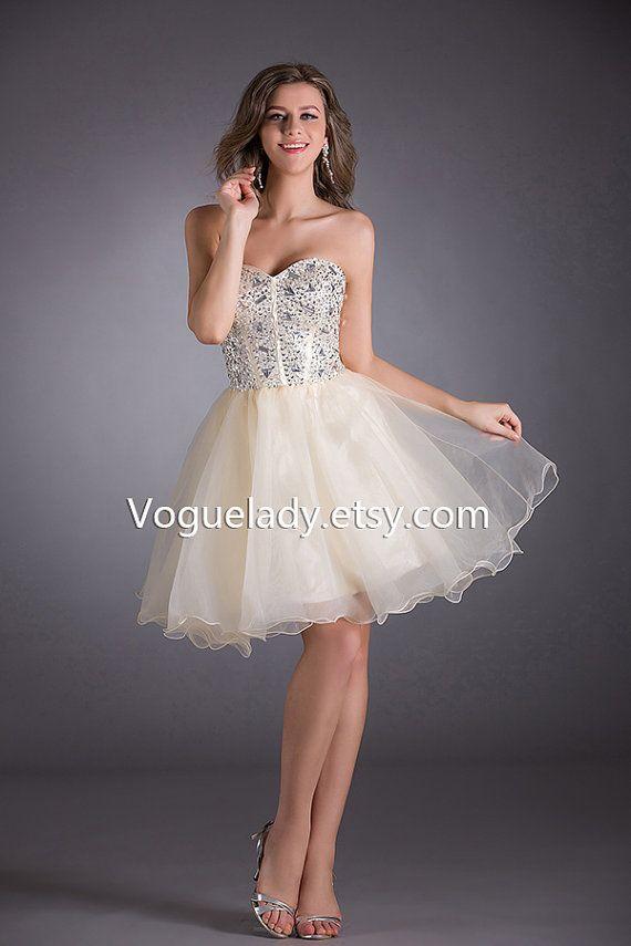 113 best dresses images on pinterest curve mini dresses for Short champagne wedding dress