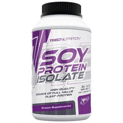 białko sojowe - Soja to białko roślinne o szczególnych właściwościach. Wiele roślinnych białek wykazuje deficyty aminokwasów z grupy egzogennych (grupa aminokwasów, których organizm nie potrafi samodzielnie syntetyzować). Białko sojowe, które jest podsatwą produktu Soy protein isolate, zawiera wszystkie 8 aminokwasów egzogennych.