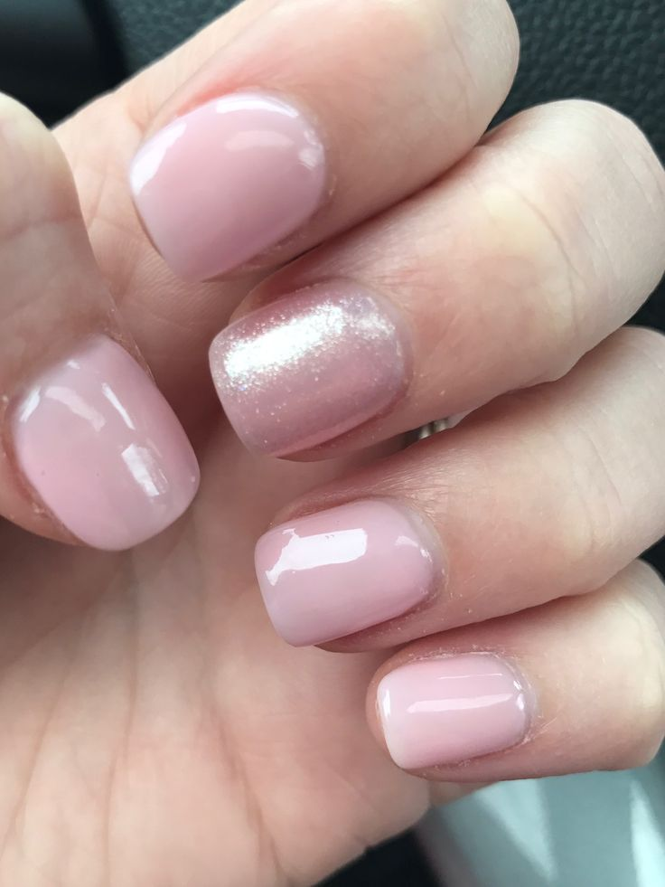 """Acrylic nails with OPI polish """"It's a Girl"""" accented with glitter """"Princesses Rule"""" @Polished Nail Bar, Toledo, OH"""