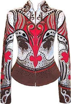 Chocolate, Black and Red Jacket by Lindsey James - western pleasure show shirt