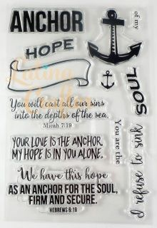 I love this Bible verses and I love to remind myself that HE is my anchor and with Him everything is possible, so I thought it will be a good reminder to share with others!! 4 x 6 set, 12 stamps!