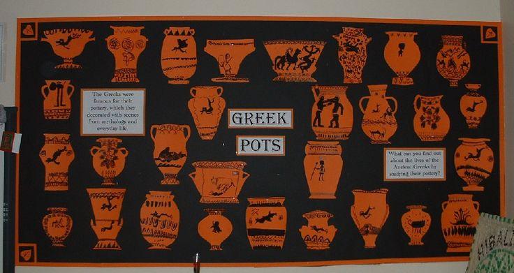 Ancient Greek Pots Classroom Display Photo - SparkleBox