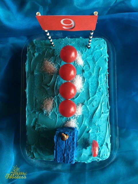 Wipeout Birthday Party Cake | The Bubbly Hostess