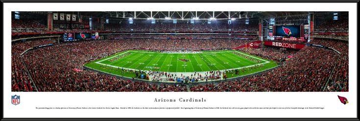 Arizona Cardinals Panoramic Picture - University of Phoenix Stadium Panorama - Standard Frame $99.95