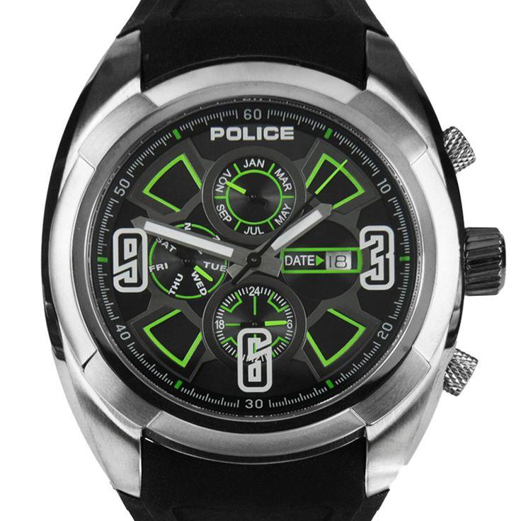 Chronograph-Divers.com - PL13594JSU/02 Police Black Rubber Strap Saturn Mens Designer Watch, $181.00 (http://www.chronograph-divers.com/pl13594jsu-02/)