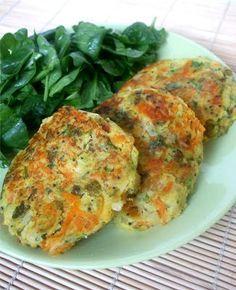 Hamburgueres de batata e legumes
