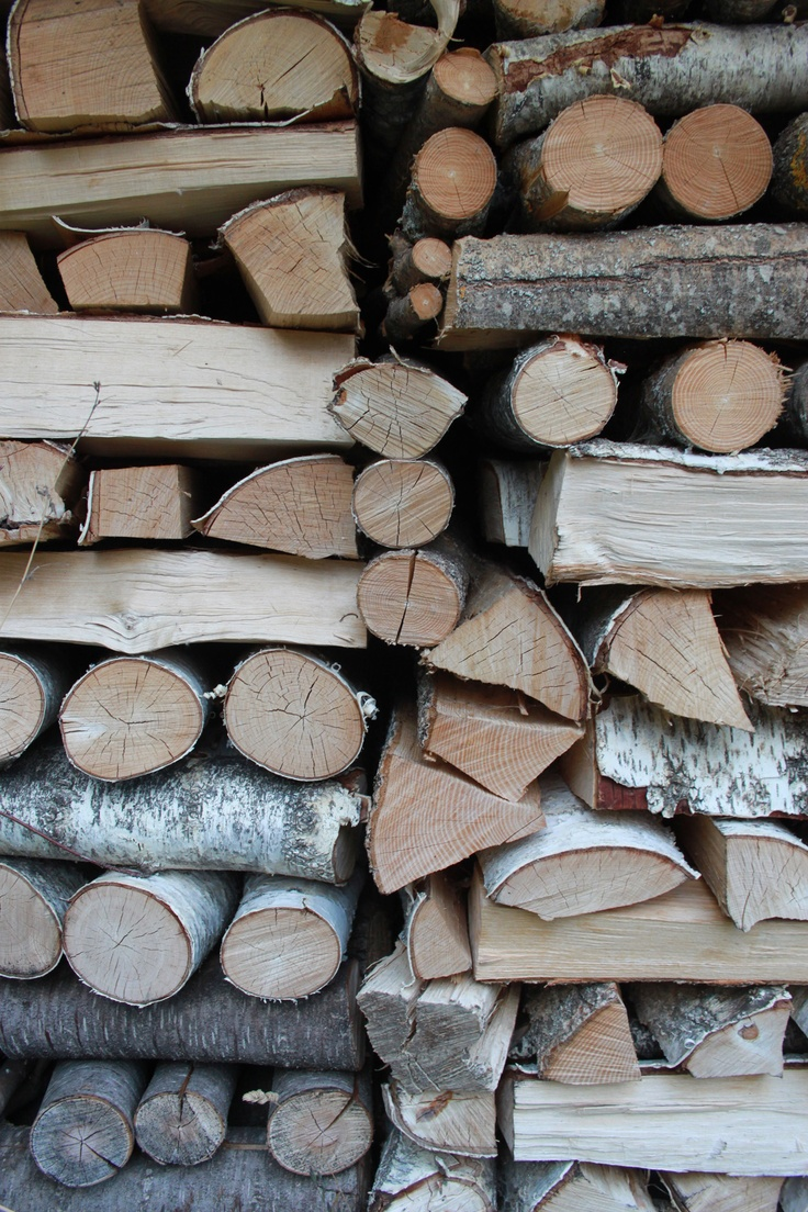 logs for winter...we have a pile like this already for our woodburner
