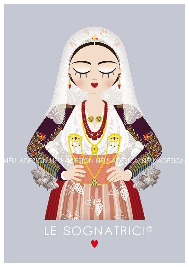 Le Sognatrici - Abito tradizionale di Ittiri - Traditional dress - Sardinia - T-shirt - outufit