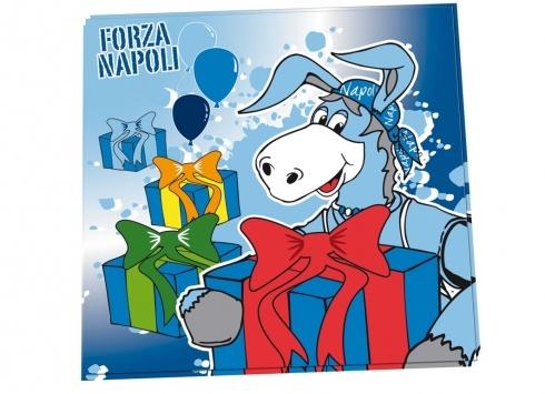 CIUCCIO TOVAGLIOLI CARTA 20 PEZZI. Confezione 20 tovaglioli in carta con immagine del ciuchino Napoli. Adatto per feste e party