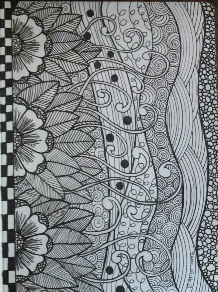 My zen doodle art making 3 journals atm for my kids :)