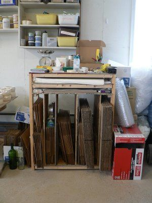 So Many Great Diy Storage Ideas For Pottery Studios Lots Of Photos