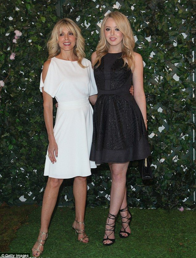 Tiffany Trump and Marla Maples attended the Just   Drew presentation during New York Fashion Week at Metropolitan Pavilion together on Thursday night