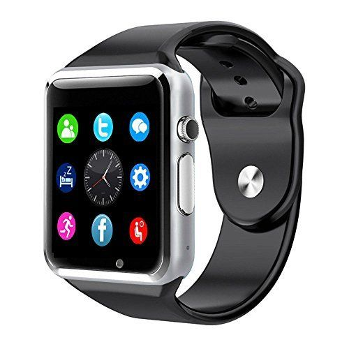 A1 Smart Wrist Watch Bluetooth Waterproof GSM Phone For Android Samsung iPhone Fashion/Smart watch (GREEN). 240 x 240 pixel HD Display Screen. Make and Receive Phone Calls. Read and Send Text Messages (ANDROID ONLY). Take Photos directly from the Watch Camera. Control the Camera on your Phone from your Watch. Play Music through your Watch from Your Phone. 380 mAh battery provides 10 + hours of standby and 2 - 3 hours talk time. Sedentary Reminder to Keep you Active. Pedometer, Notifier...