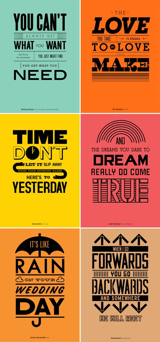 Great Type Posters