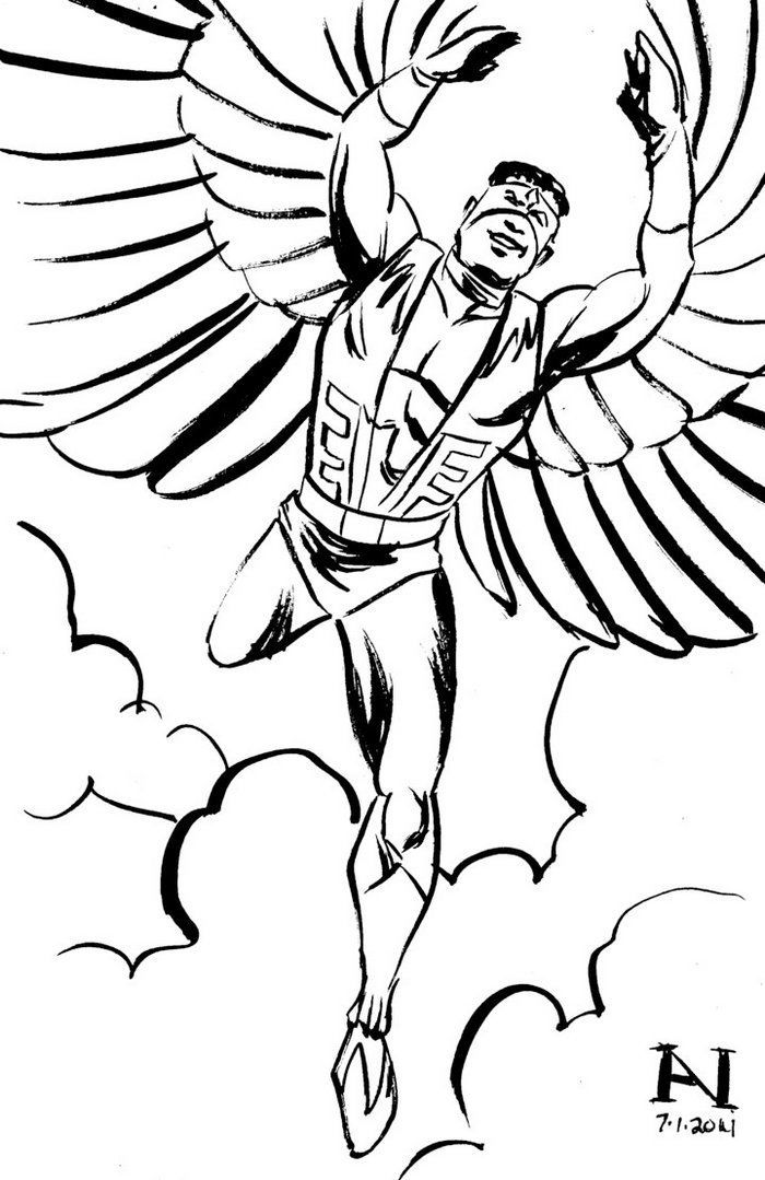 The Falcon Marvel Coloring Page Marvel Coloring Falcon Marvel Coloring Pages
