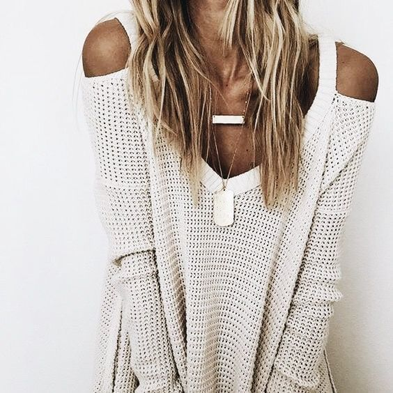 i need this top | waffle knit cut out shoulder deep v comfy necklaces stacked fashion inspiration, casual, everyday, day to night, date outfit, minimalist, minimalism, minimal, simplistic, simple, modern, contemporary, classic, classy, chic, girly, fun, clean aesthetic, bright, white, pursue pretty, style, neutral color palette, inspiration, inspirational, diy ideas, fresh, street style, on point, trendy, on trend, glam, tousled, boho, stylish, 2018, sophisticated layers