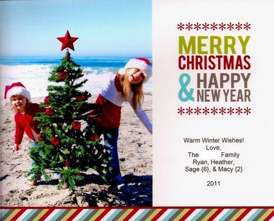 Christmas Card Beach Photo Ideas