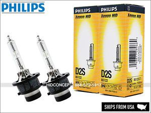 a new 2x philips d2s hid xenon bulbs 4300k model 85122 germany dot oem pair set