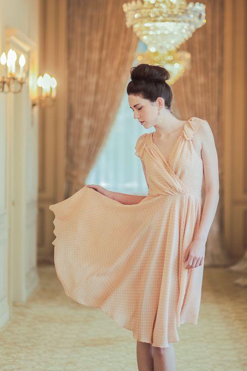Pale Peach Dress Style Pinterest Veronica
