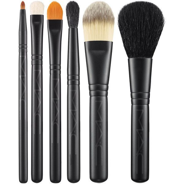 Mac Look In A Box Brush Kit/Basic MAC Cosmetics Official Site ($72) ❤ liked on Polyvore featuring beauty products, makeup, mac cosmetics kit, mac cosmetics and mac cosmetics makeup