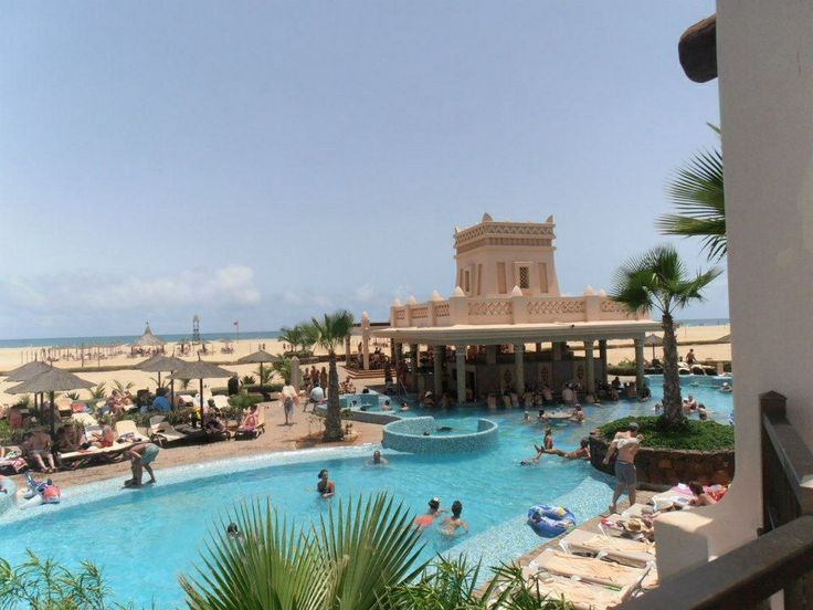Looking over the pool, Cape Verde
