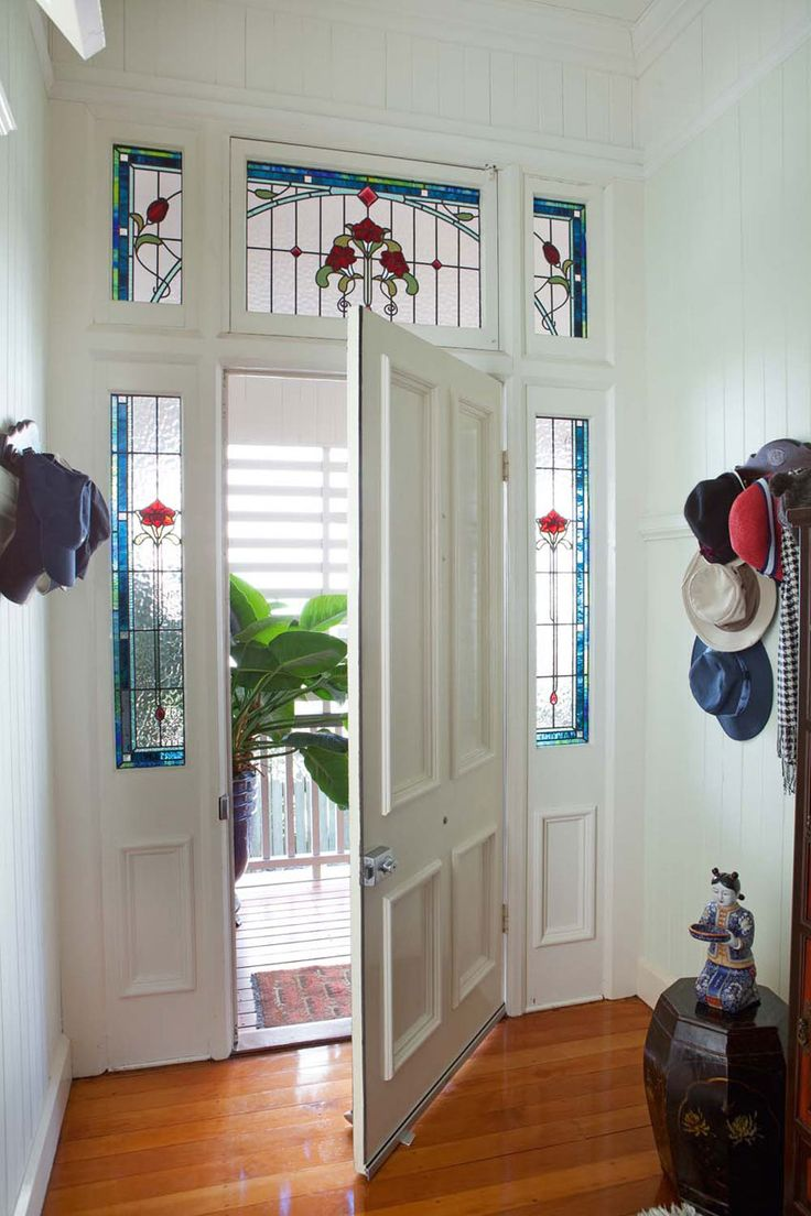 17 best images about lead light doors on pinterest queen for Front door queenslander