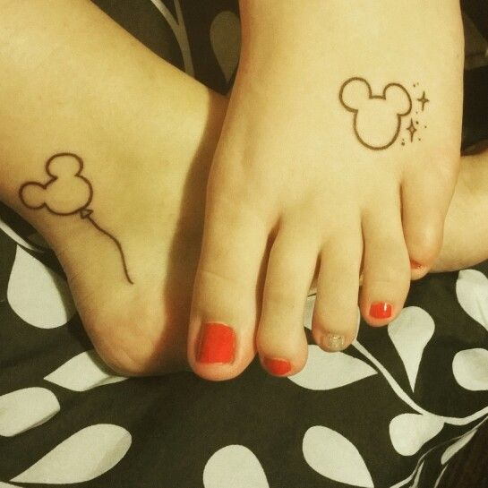 Mickey Mouse tattoos, like the one with the Peter Pan stars
