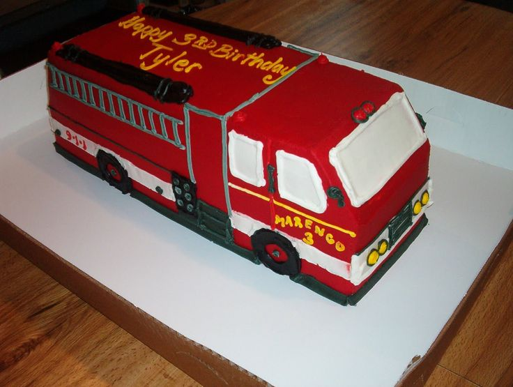 Best Images About Fête Pompier On Pinterest Party Planning - Car engine birthday cake