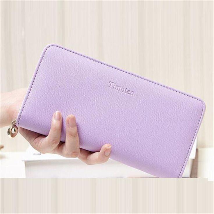 Hot sale Clutches Wallets for Women PU Leather Purse Female Long Purse Wallet Candy Color portefeuille femme Women's Money Bag