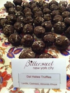Dal Halwa Truffles from BittersweetNYC / www.bittersweetNYC.com