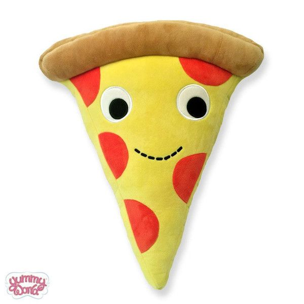 Cheezy PieYummy World pizza plushisa top quality soft, cute & cuddly plush with embroidered eyes and details. You won't be disappointed with your Yummy
