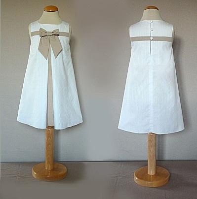 robe suzanne en coton, buste doublé