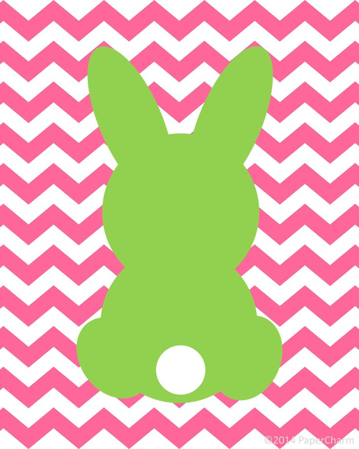 PaperCharm: Free Bunny Silhouette Easter Printable Art