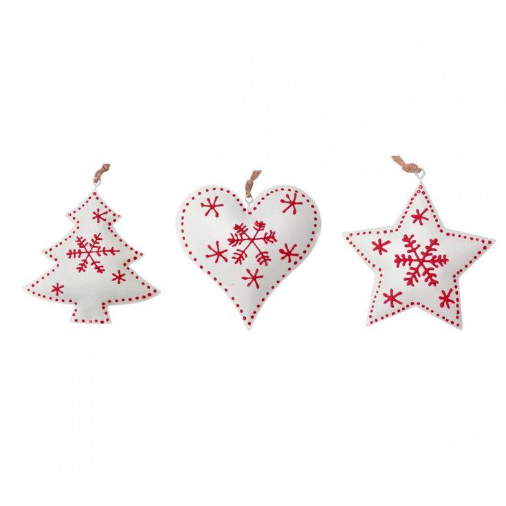 dekoracje w stylu vintage Zawieszka świąteczna - gwiazda - Boże Narodzenie - Świątecznie dodatki dla domu