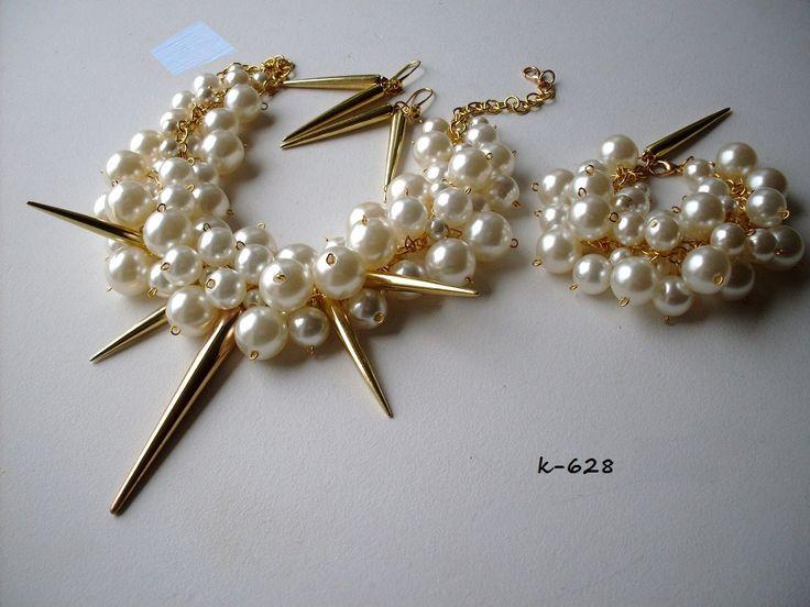 Luxusná svadobná bižutérie, perly, swarovski, úpravy na přání, svatební náušnice, náramky, náhrdelníky, vintage style, boho style, glamour style,...