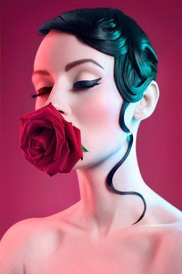 Inspiration shooting photo. Hair for edito - #rose #makeup #liner