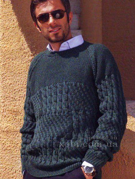мужской пуловер-реглан