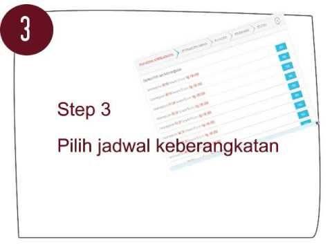 Langkah demi Langkah untuk pembelian Tiket Travel Jakarta Bandung yang dikemas dalam sebuah video untuk memudahkan anda