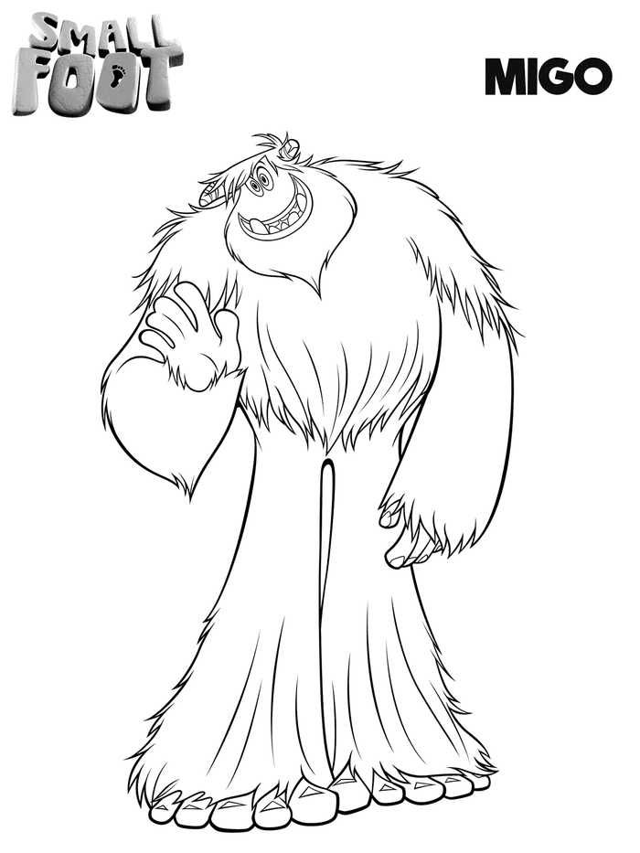 Printable Smallfoot Movie Coloring Pages Cartoon Coloring Pages