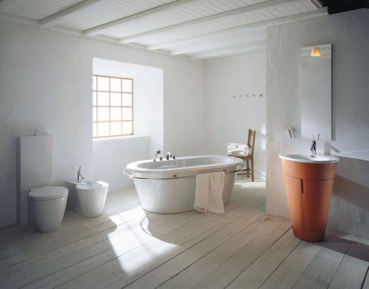 http://www.justsoakit.com/wp-content/uploads/2015/01/classic-bathroom-scandinavian-style-design-with-bathtub-on-wooden-floor-along-with-orange-pedestal-sink-and-wooden-ceiling-970x761.jpeg
