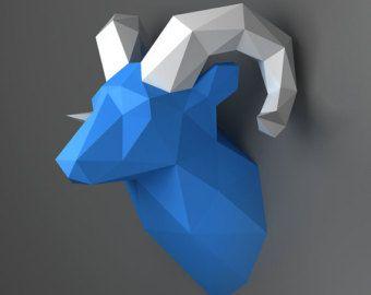 Licorne modèle 3D papercraft. Modèle de bricolage par NokaPaperArt