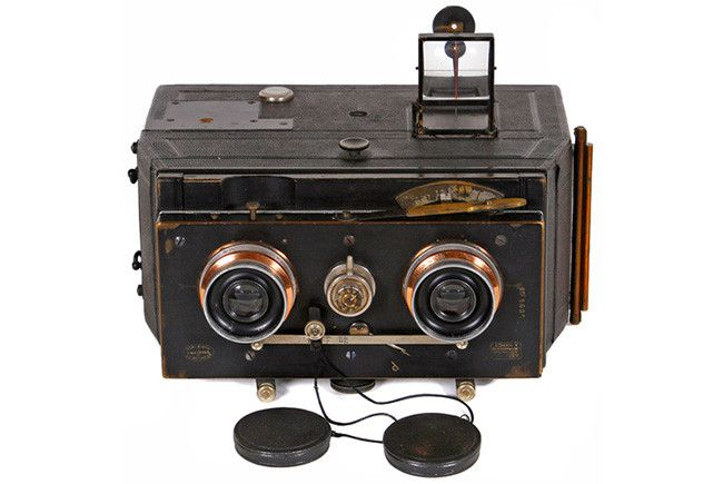 cámara estereoscópica Bellini Jumelle de 1901