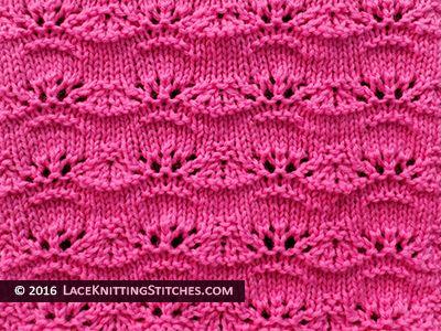 Popular lace knitting pattern - 19 -