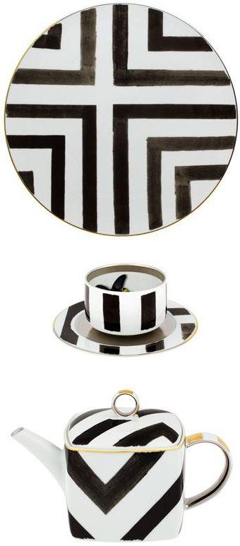 geometric dinnerware designed by \ Vista Alegre \  sc 1 st  Pinterest & 122 best Tableware images on Pinterest | Dinner ware Dinning table ...