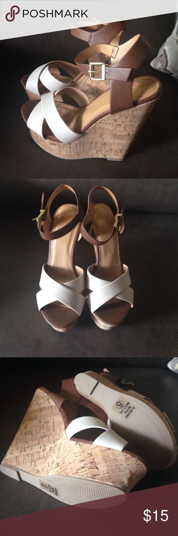 Platform Wedge Sandal  New Size 8 Cute wedge sandal size 8. Shoes Sandals