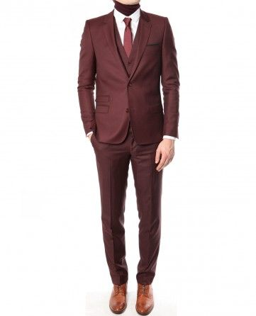 A burgundy suit with tons of swag